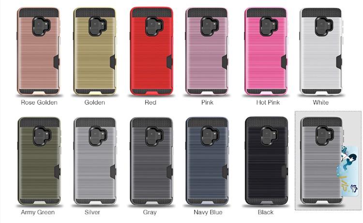 (436-433)เคสมือถือซัมซุง Case Samsung A8+ 2018 เคสทูโทนแนวกันกระแทกด้านหลังมีช่องใส่การ์ด