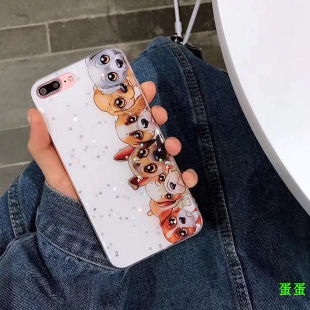 (436-359)เคสมือถือไอโฟน Case iPhone 6Plus/6S Plus เคสนิ่มลายน้องหมา GlitterStar