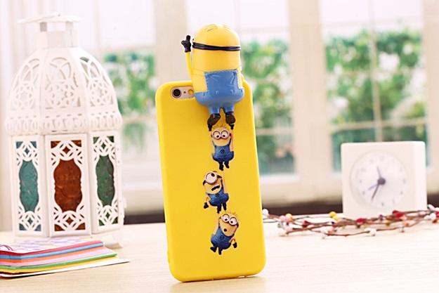(พร้อมส่ง)เคสมือถือไอโฟน case iphone 6/6S เคสนิ่ม Hello 3D การ์ตูนมินเนี่ยนน่ารักๆ
