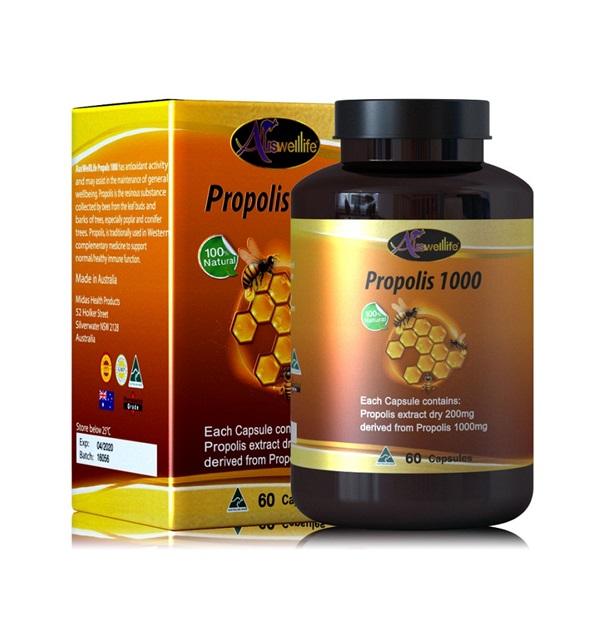 AuswellLife Propolis 1000 mg ออสเวลไลฟ์ โพรโพลิส บรรจุ 60เม็ด