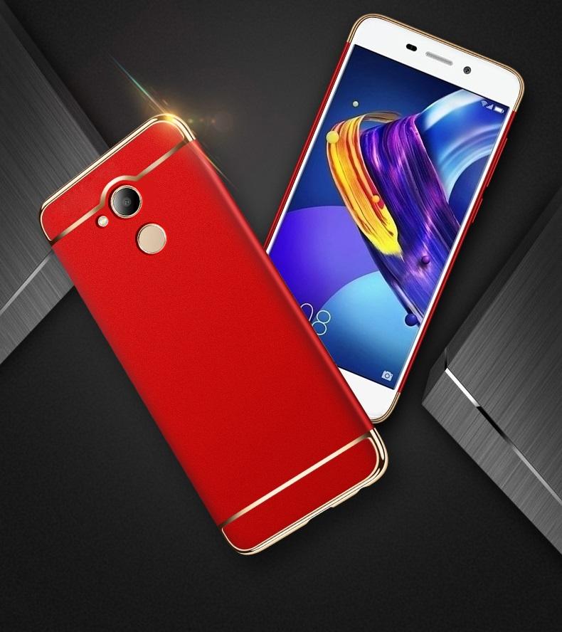 (025-933)เคสมือถือ Case Huawei Honor V9 Play เคสพลาสติกสีสดใสขอบแววสไตล์แฟชั่น