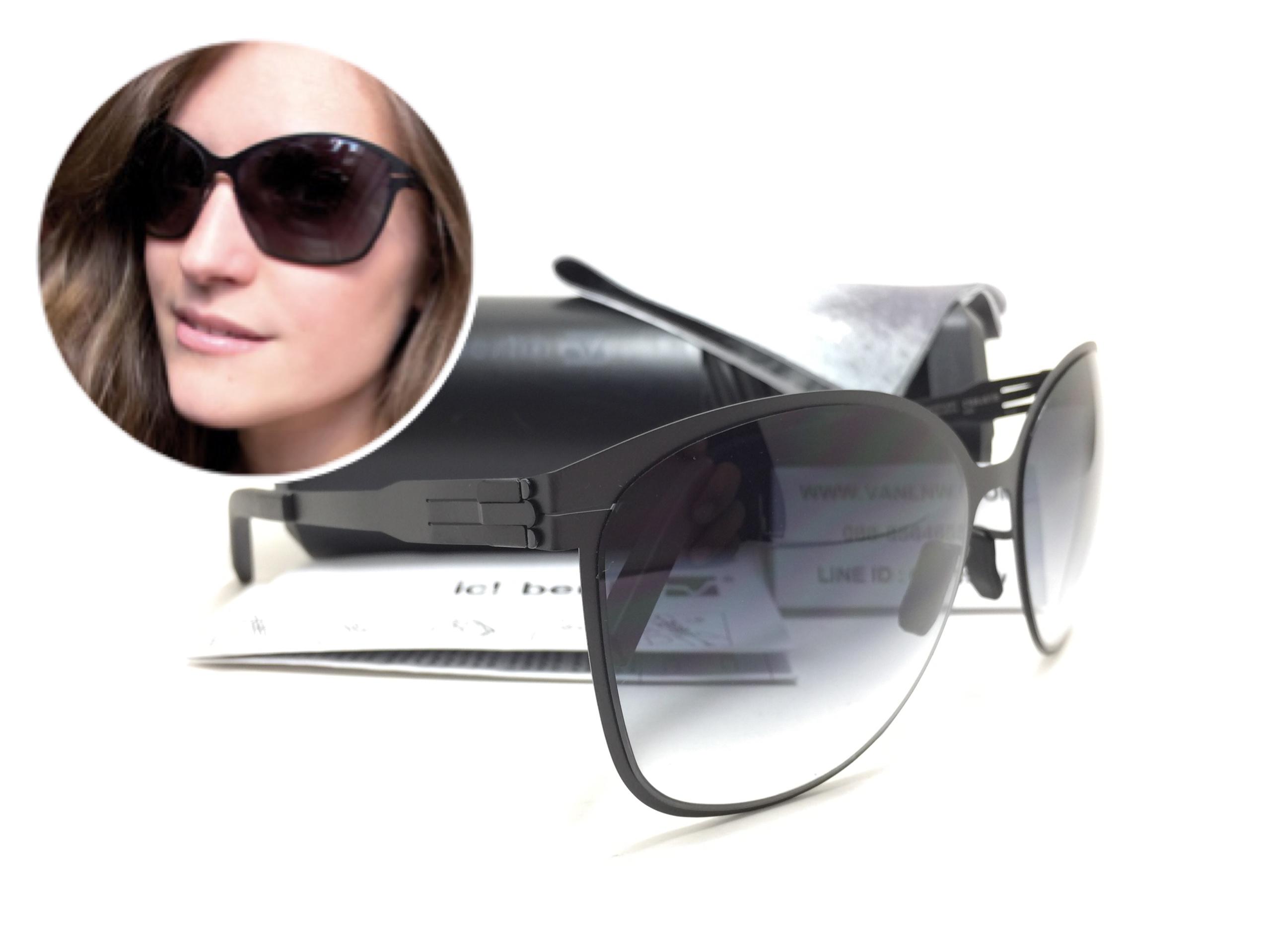 แว่นกันแดด ic berlin model craauante black 61-14 <ดำ>