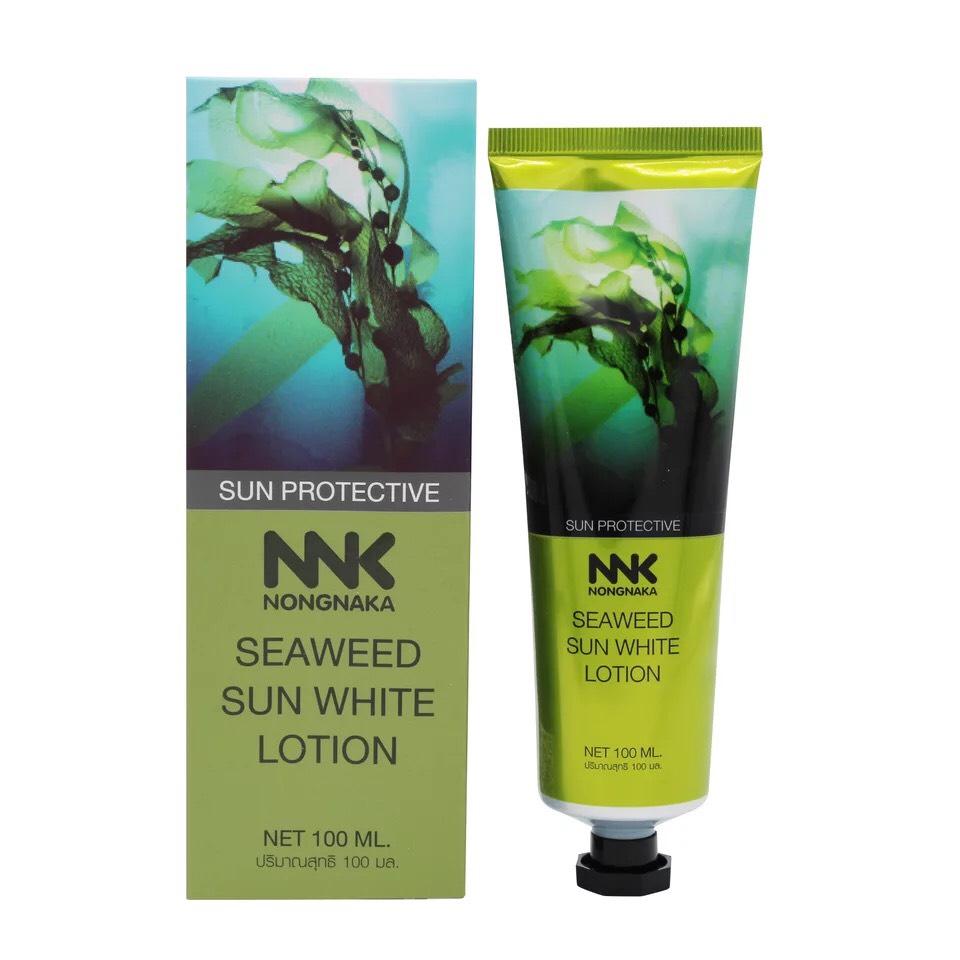 Nongnaka Seaweed Sun White Lotion น้องนะคะ ซีวีด ซัน ไวท์ โลชั่น ขนาด 100 ML.(หลอดเขียว)
