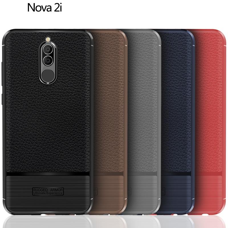 (674-008)เคสมือถือ Case Huawei Nova 2i/Mate10Lite เคสนิ่มสไตล์กันกระแทก RUGGED ARMOR