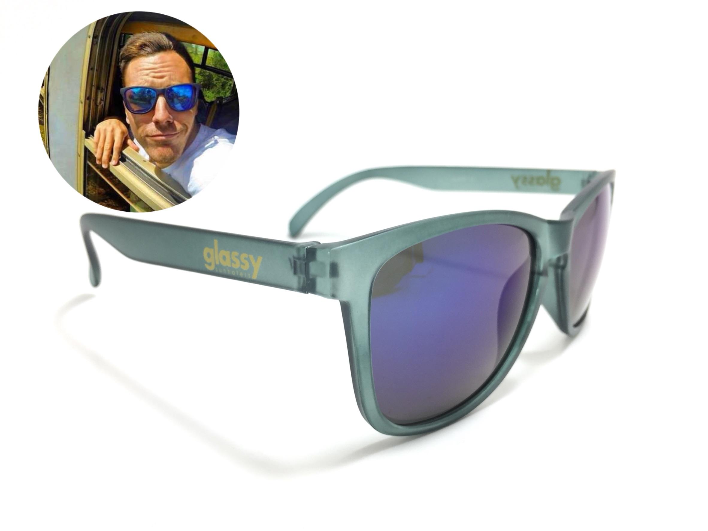 แว่นกันแดด Glassy Sunhaters Matte Grey/Blue Mirror 54-18 140 <ปรอทน้ำเงิน>