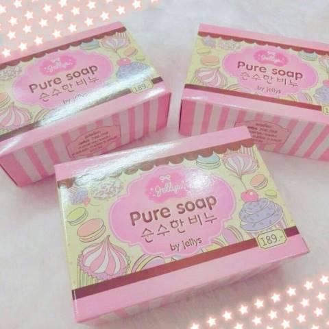 สบู่เจลลี่ หัวเชื้อผิวขาว100% Pure Soap By Jellys