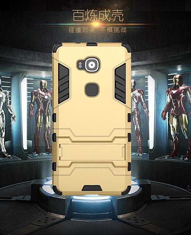 (394-020)เคสมือถือ Case Huawei G7 Plus เคสขอบนิ่มพื้นหลังพลาสติกทรงกันกระแทกเกราะไอรอนแมน
