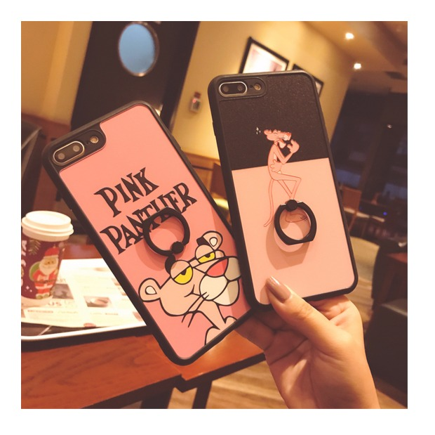 (665-015)เคสมือถือไอโฟน Case iPhone 7 Plus/8 Plus เคสนิ่มลาย Pink Panther