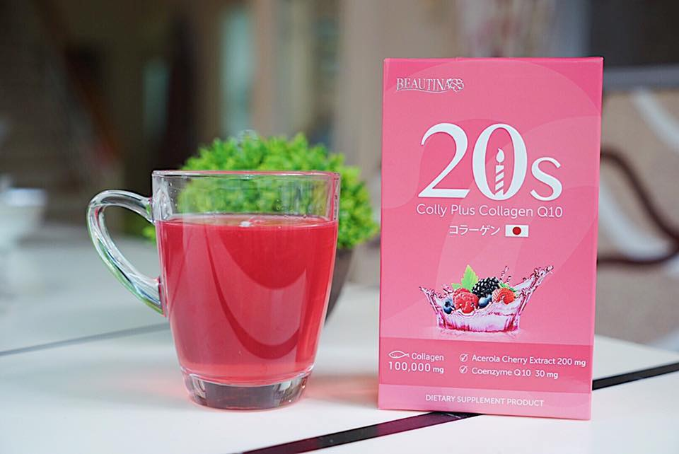 Beautina 20s Colly Plus Collagen Q10 บิวติน่า 20 s By เป๊กผลิตโชค บรรจุ 10 ซอง