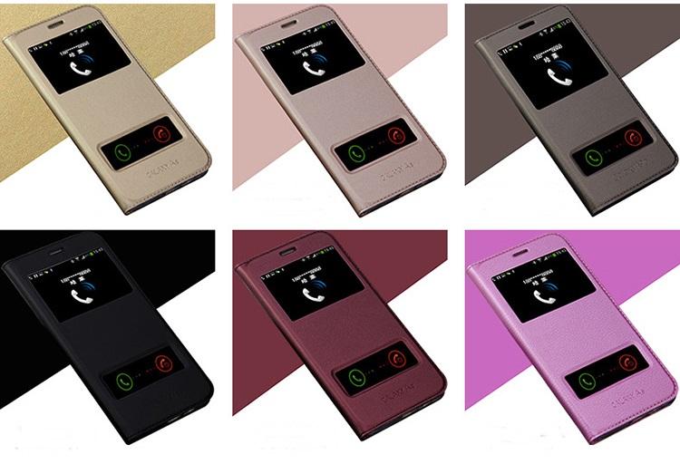 (569-007)เคสมือถือซัมซุง Case Samsung A9 Pro เคสนิ่มฝาพับ PU โชว์สองหน้าจอผิวลื่นกันน้ำ
