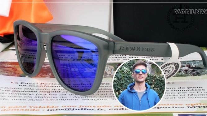 แว่นกันแดด HAWKERS FROZEN GREY SKY ONE <ปรอทน้ำเงิน>