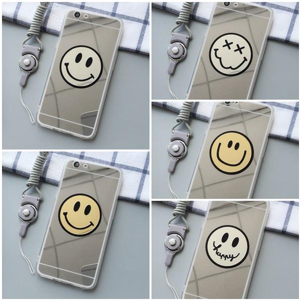 (025-1016)เคสมือถือ Case OPPO R9s Plus/R9s Pro เคสนิ่มพื้นหลังแววกึ่งกระจก ลายอีโมติคอน (Emoticon)