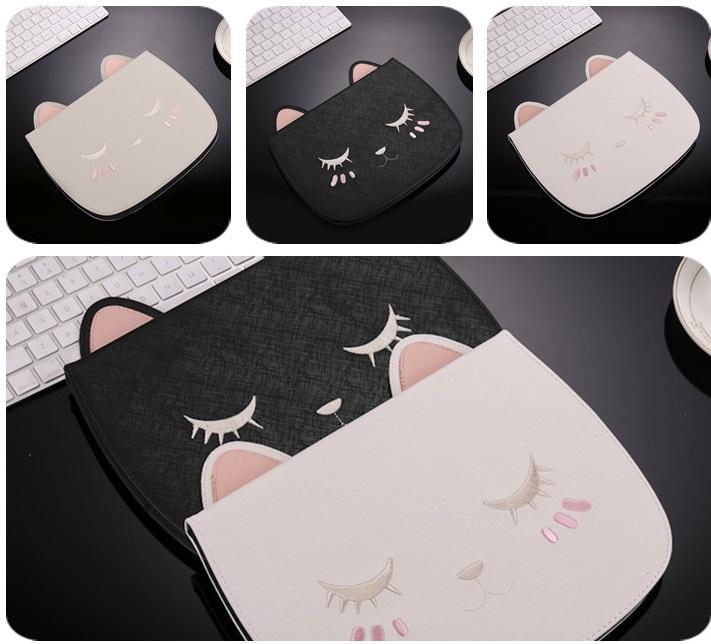 (659-011)เคสมือถือ iPad Pro หน้าจอ (9.7นิ้ว) เคสนิ่มเหมียวหลับตาหูยาว 3D