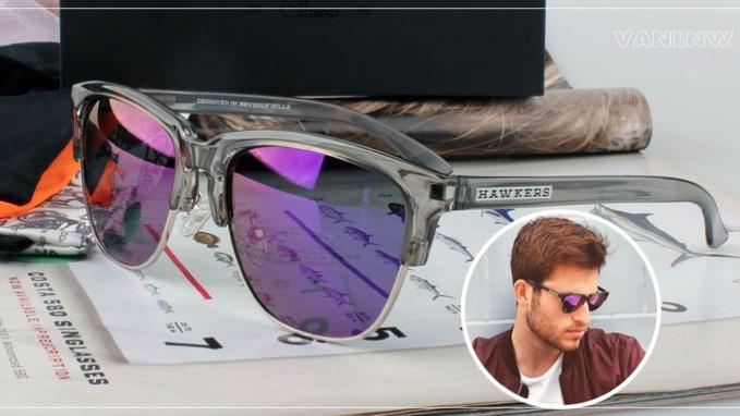 แว่นกันแดด HAWKERS CRYSTAL GREY JOKER CLASSIC <ปรอทม่วง>