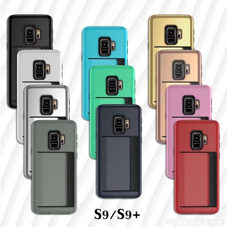 (436-389)เคสมือถือโทรศัพท์ซัมซุง Case Samsung S9 เคสสไตล์กันกระแทกแบบใส่บัตรได้