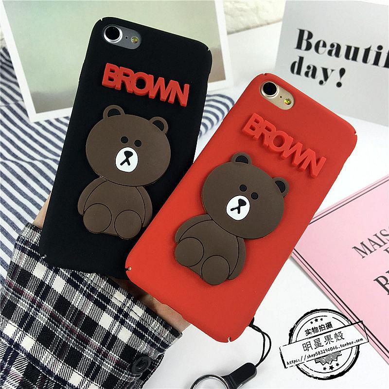 (513-029)เคสมือถือไอโฟน Case iPhone 6Plus/6S Plus เคสนิ่มหมี BROWN