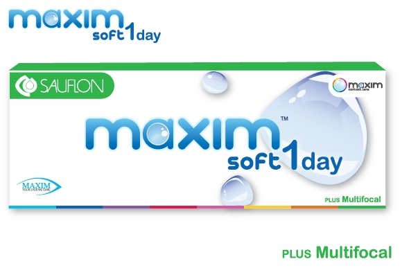 Maxim Soft 1Day Multifocal คอนแทคเลนส์รายวัน สำหรับคนสายตายาว แบบมองใกล้ + มองไกลในเลนส์เดียวกัน