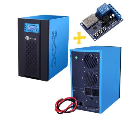 อินเวอร์เตอร์ Pure Sine Wave 5000W 96V to 220V CKS PT + Charger controller 50A (Ring Transfomer)