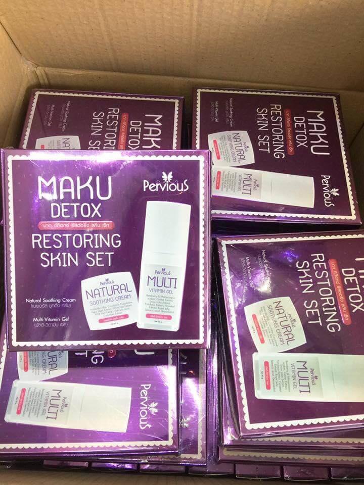 Maku Detox & Restoring Skin Set เซตครีมบำรุงผิวหน้ามากุ