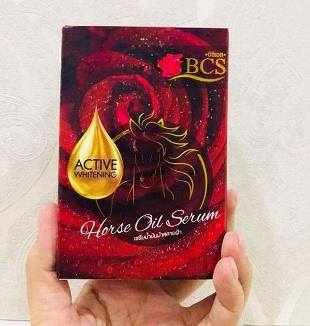 BCS Horse Oil Serum เซรั่มน้ำมันม้าสลายฝ้า ขนาด 10 ml.