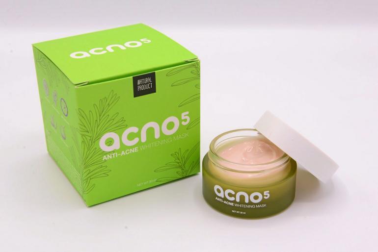 ครีมมาส์กลดสิว acno5 Anti-acne whitening mask ขนาด 30 กรัม (ส่งฟรี EMS)