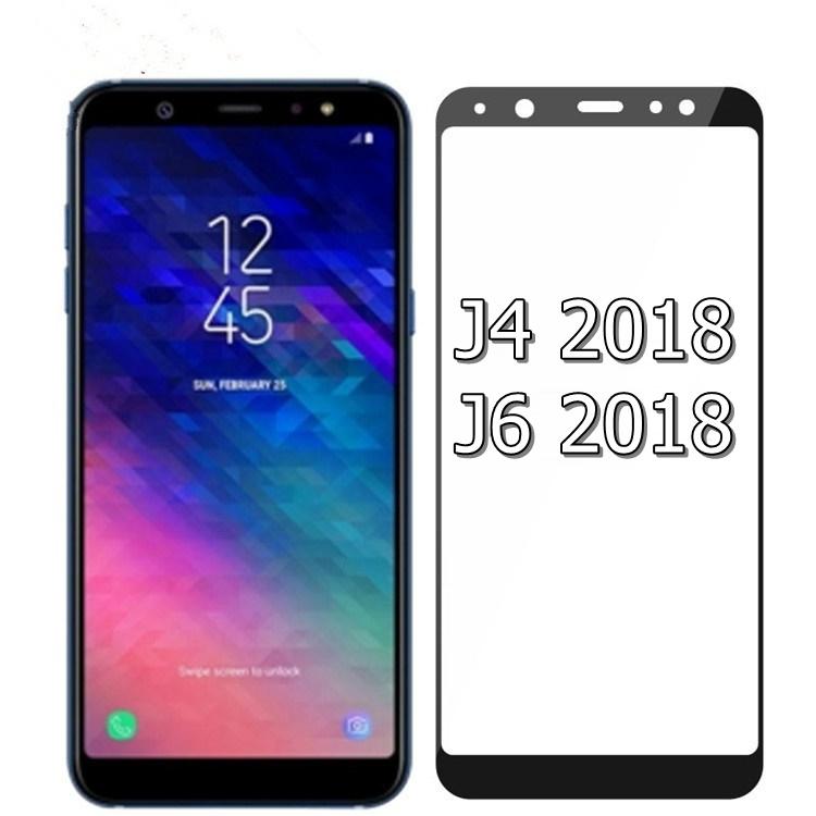 (436-486)ฟิล์มกระจก Samsung J4 2018 นิรภัยเมมเบรนกันรอยขูดขีดกันน้ำกันรอยนิ้วมือ 9H Tempered Glass