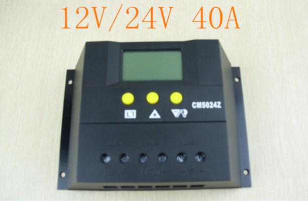 โซล่า ชาร์จเจอร์ Solar Charger 40A 12V 24V Auto switch model CM4024Z