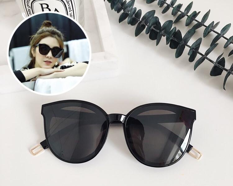 แว่นกันแดดแฟชั่น Black Ready Stock 337 52-22 146 <ดำ>