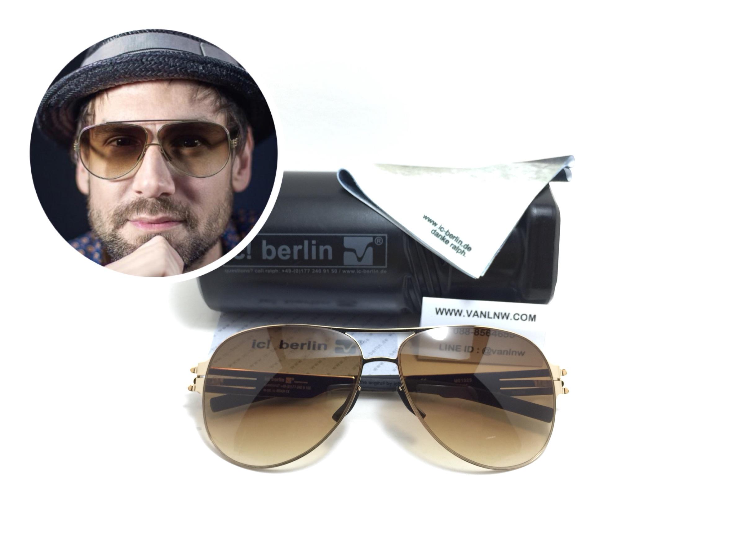 แว่นกันแดด ic berlin model M0132S gold 61-14 <ชาเฟด>