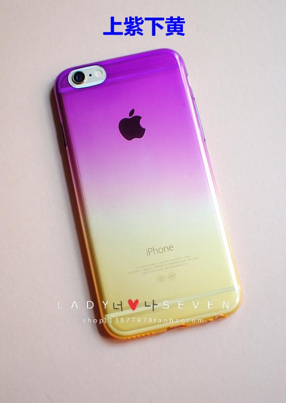 (พร้อมส่ง)เคสมือถือไอโฟน case iphone 6 Plus เคสนิ่มใสไล่ระดับโทนสี