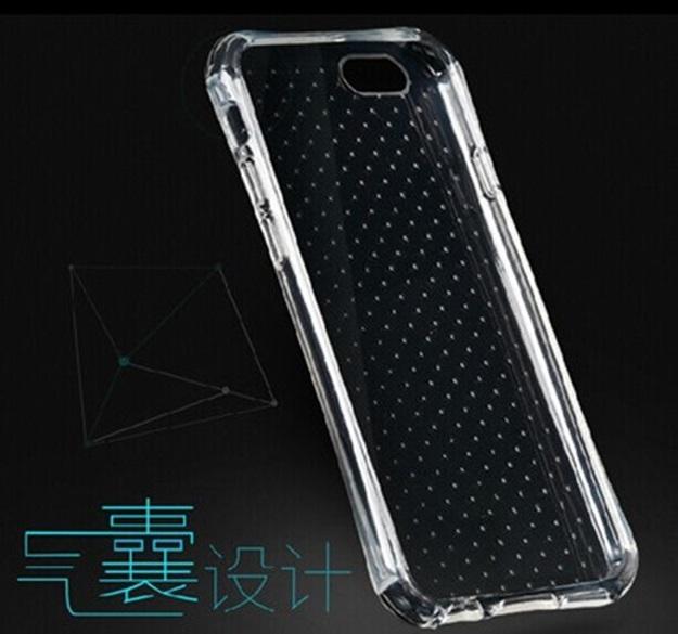(พร้อมส่ง)เคสมือถือไอโฟน case iPhone 6Plus/s Plus เคสนิ่มใสขอบทรงเว้าหนากันกระแทกพื้นหลังจุดกันรอยนิ้วมือ