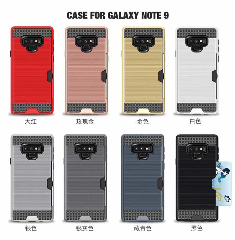 (436-499)เคสโทรศัพท์มือถือซัมซุง Case Note9 เคสนิ่มประกบฝาหลังพลาสติกแฟชั่นมีช่องใส่การ์ด