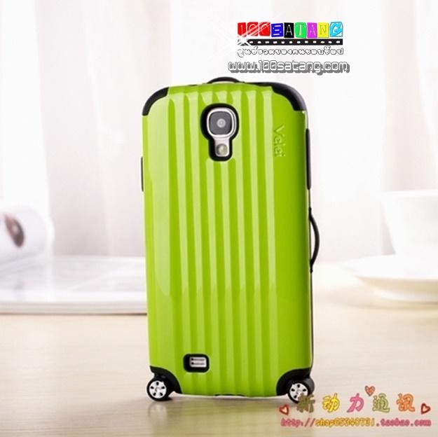 (พร้อมส่ง)เคสมือถือซัมซุงกาแล็คซี่เอส 4 Samsung Galaxy Case S4 เคสกระเป๋าเดินทางล้อลากพร้อมสติ๊กเกอร์