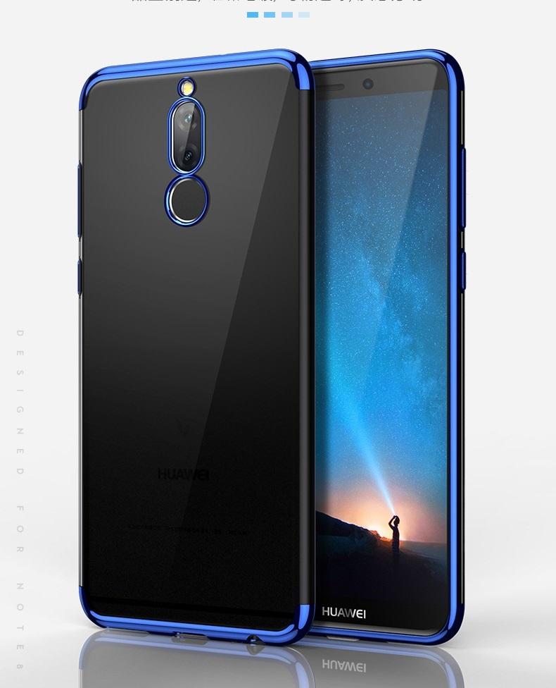 (025-1048)เคสมือถือ Case Huawei Nova 2i/Mate10Lite เคสนิ่มใสแฟชั่นขอบแวว