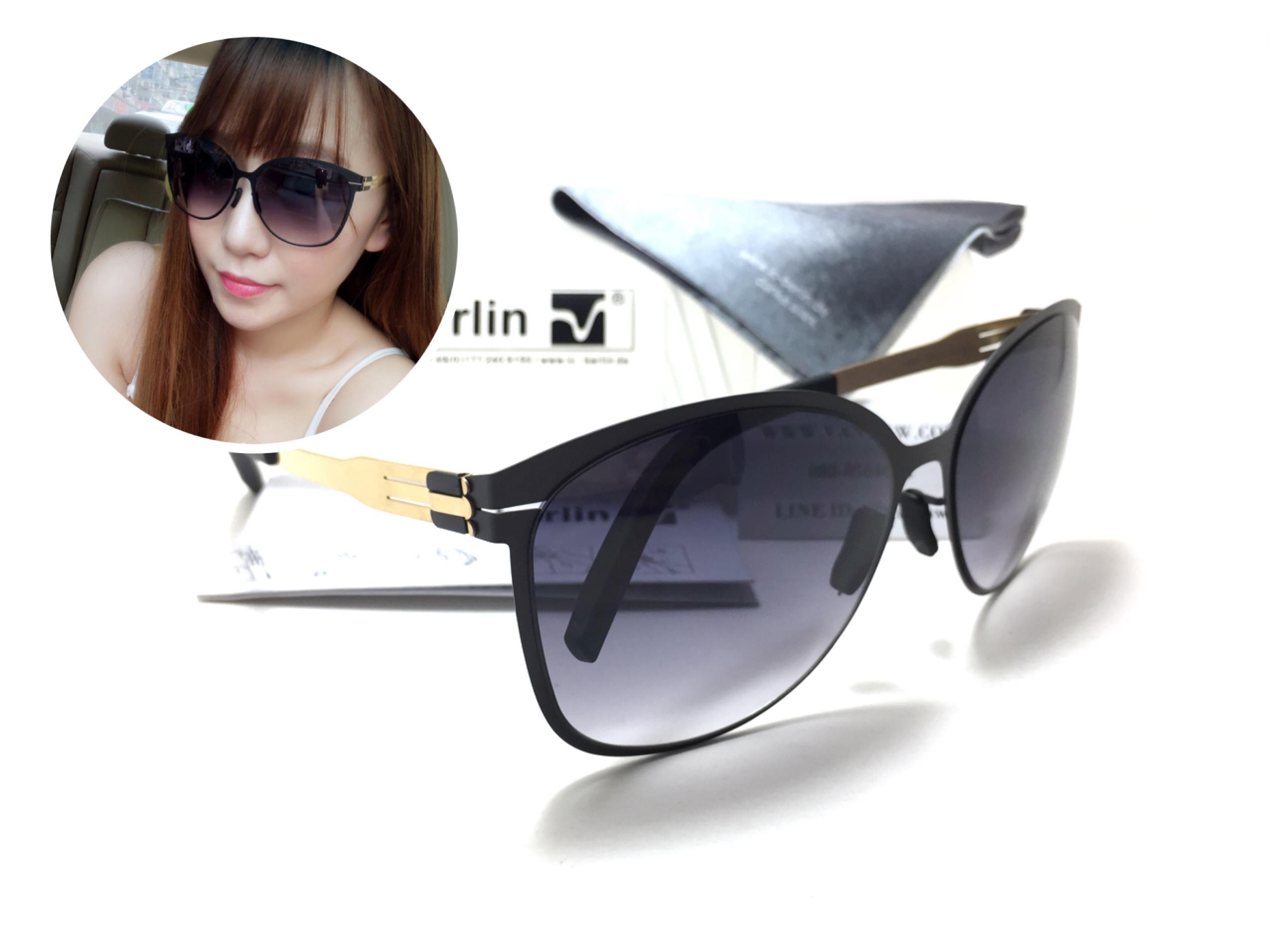แว่นกันแดด ic berlin model craauante black/Gold 61-14 <ทอง>