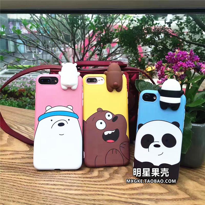 (513-074)เคสมือถือไอโฟน Case iPhone 6/6S เคสนิ่มหมี 3D สามสไตล์
