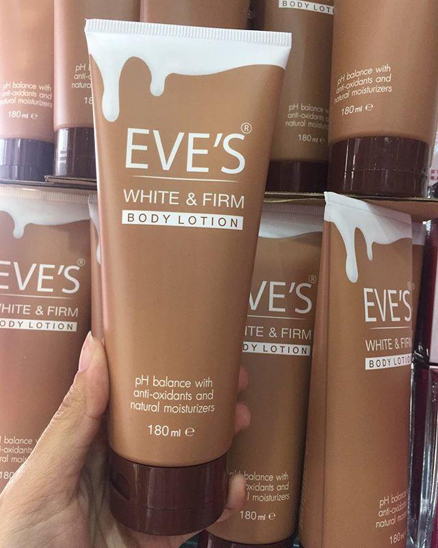 EVE'S White & Firm Body Lotion อีฟส์ ไวท์ แอนด์ เฟิร์ม บอดี้ โลชั่น ขนาด 180 ml.