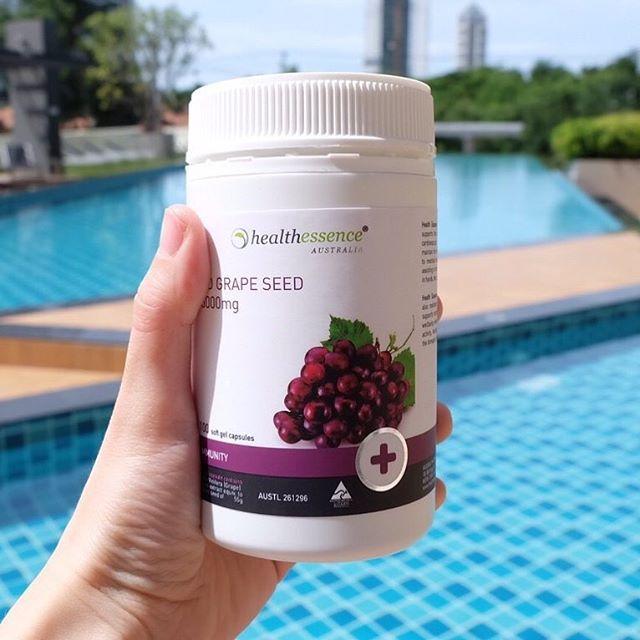 Healthessence Red Grape Seed 55,000mg สกัดจากเมล็ดองุ่นแดง 55,000 mg.