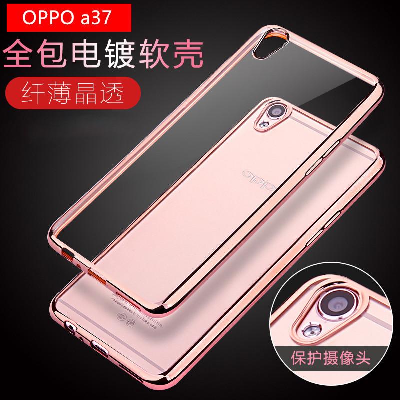 (025-1074)เคสมือถือ Case OPPO A37/Neo9 เคสนิ่มใสเรียบหรูขอบแวว