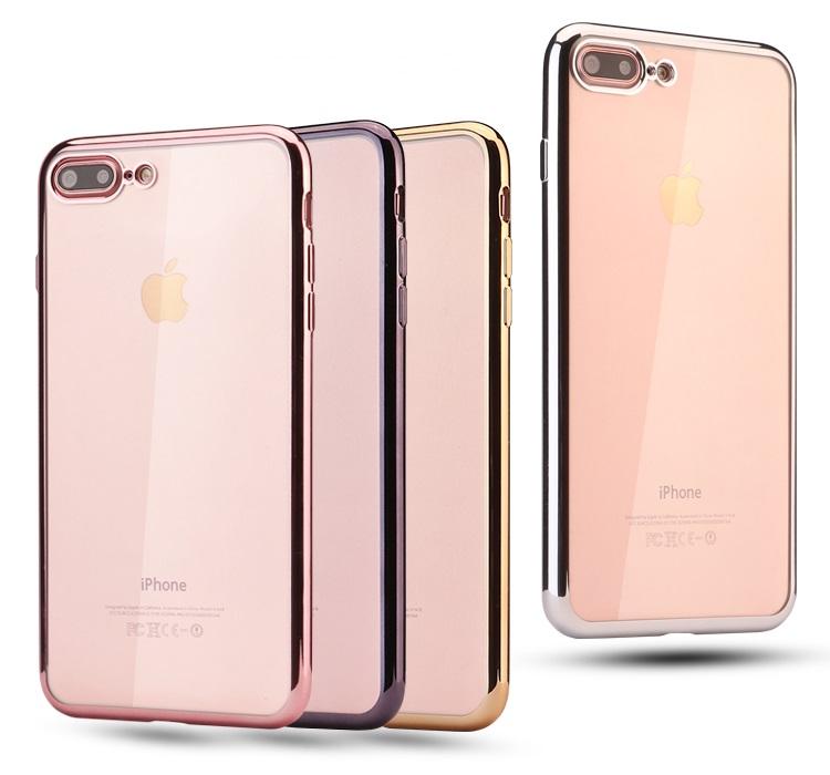 (025-978)เคสมือถือไอโฟน Case iPhone 7 Plus/8 Plus เคสนิ่มใส ขอบแววสีสัน