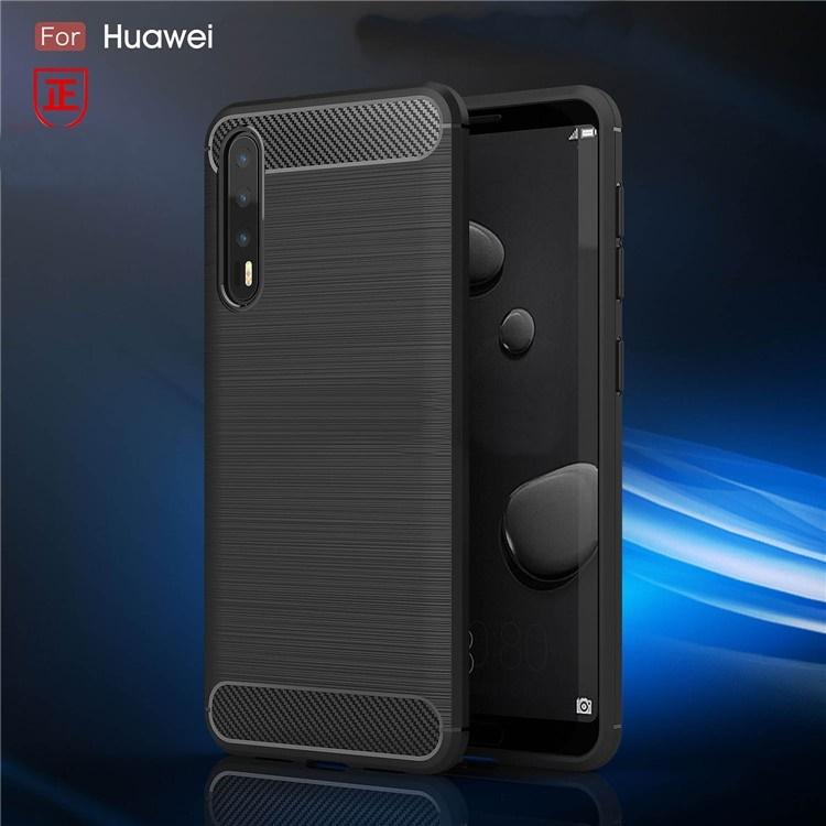 (436-394)เคสมือถือ Case Huawei P20Pro เคสกันกระแทกแฟชั่นพื้นผิวลายเส้น