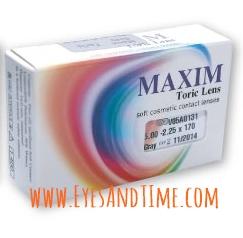 Maxim Colors Toric คอนแทคเลนส์สี สายตาเอียง ราย 2 เดือน แพค 1 คู่ (2 pcs)