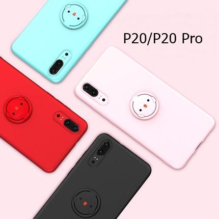 (737-002)เคสโทรศัพท์มือถือหัวเว่ย Case Huawei P20 เคสนิ่มแหวนลูกไก่น่ารักๆ