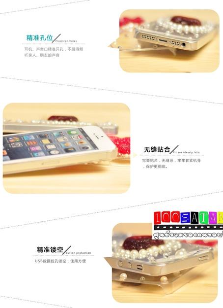 เคสมือถือไอโฟน case iphone 5/5s เคสใสคริสตัลหัวใจ มิกกี้เมาส์