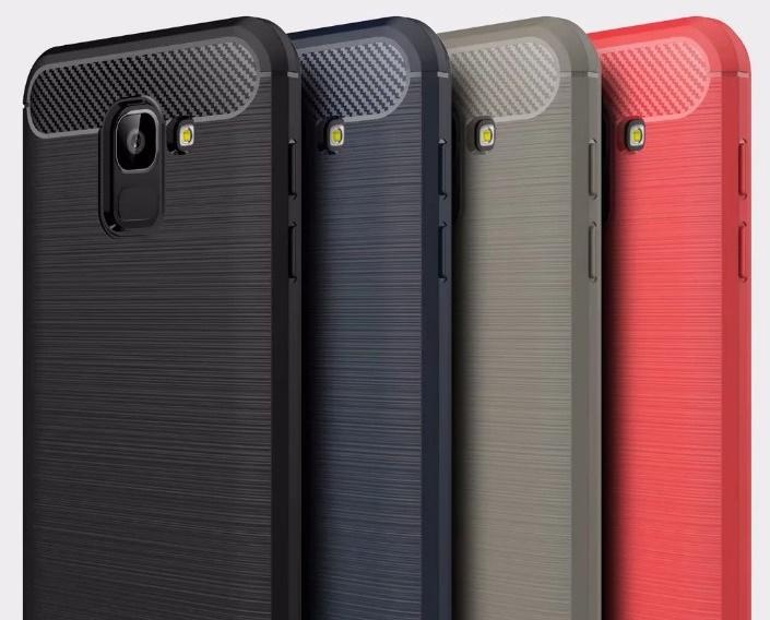 (436-491)เคสโทรศัพท์มือถือซัมซุง Case J4 2018 เคสนิ่มลายขนแปรงอลูมิเนียม