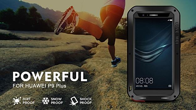 (481-002)เคสมือถือ Case Huawei P9 Plus เคสกันกระแทก Love Mei Powerful