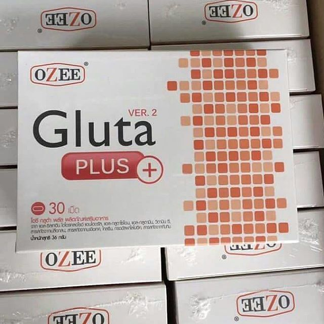 Ozee Gluta Plus+ Version 2 โอ ซี กลูต้า พลัส เวอร์ชั่น 2 ขาวเร็วกว่าเดิม 2 เท่า บรรจุ 30 เม็ด