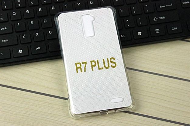 (291-030)เคสมือถือ Case OPPO R7 Plus เคสนิ่มใสบางพื้นจุดกันรอยนิ้วมือ
