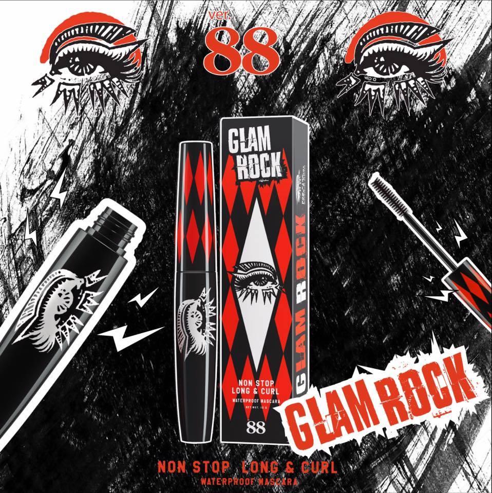 Ver. 88 Glam Rock มาสคาร่าสูตรกันน้ำ ที่ช่วยต่อขนตาให้ยาวขึ้นแบบเส้นต่อเส้น