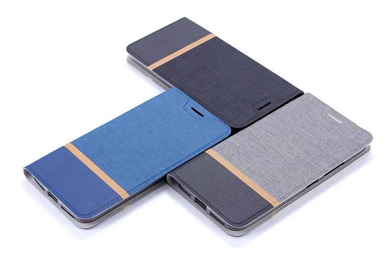 (651-002)เคสมือถือ Case Huawei P9 Plus เคสนิ่มฝาพับวัสดุหนัง TPU ลายผ้ายีนส์หุ้มเหล็กด้านใน ฝาพับสามารถตั้งโทรศัพท์ได้